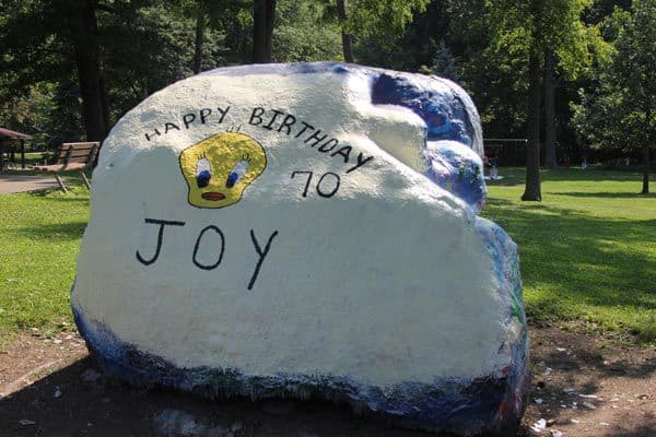 Today's Pierce Park rock