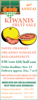 Kiwanis fruit sale ad