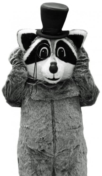 Reggie the Recycling Raccoon.