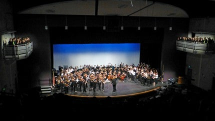 Courtesy photo by John Ridley of the 2014 Collage Concert finale.