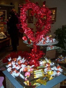 Photo by Lisa Carolin. Special chocolate display at La Jolla last Saturday.