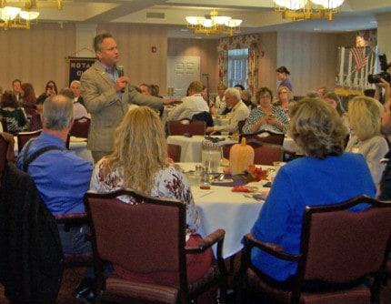 Photo by Lisa Carolin. A scene from the recent Chelsea Rotary event.
